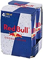 Red Bull Regular, 250 ml (Pack of 4)