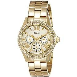Guess W0632L2 - Reloj con correa de metal, para mujer, color plateado/dorado