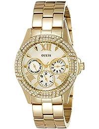 Guess Damen-Armbanduhr Analog Quarz Edelstahl W0632L2