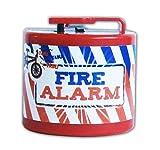 FAHRRADKLINGEL elektrisch Polizei Feuerwehr Alarm Sirene Fahrrad Klingel Glocke Kinder 16 (Fire Alarm, Rot)