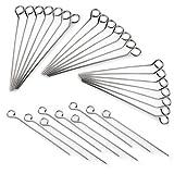 Rouladen-Nadeln aus Edelstahl, 30 Stück im Set, Rouladen-Spieße 10cm, rostfrei, Marke YOUZiNGS