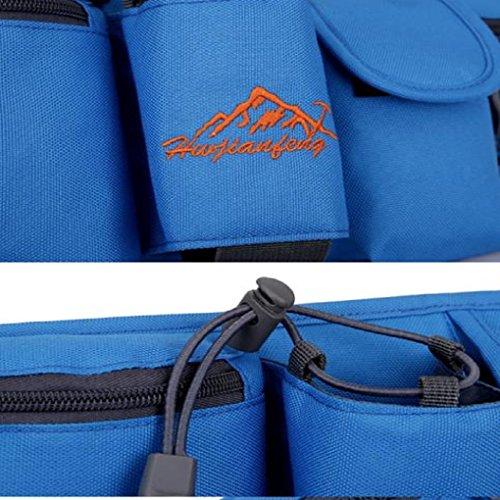 Fulltime® Wasserdichte Sport Hüfttasche Hüfttasche Nylongürteltasche Nachtsichtbarkeit für Jogging, Wandern, Laufen, Radfahren, Reisen, Fitness Center, Multi-Taschen für Getränke, Wasserflasche , Hand Blau