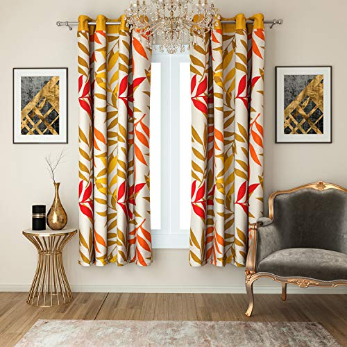 check MRP of yellow colour curtains Swayam