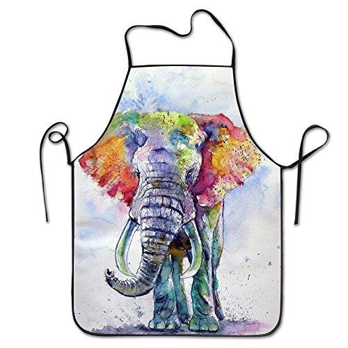 HTETRERW Aprons Bohemian Elephant Bohos BlackApron for Cooking Gardening Waterproof Bib BBQ Unisex Durable Creative Pinafore