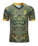 GHQROGBY Rugby Uniform Équipe de Rugby d'Afrique du Sud (réplique) Adultes et Juniors, Taille: S-3XL,S