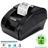TEROW Stampante per ricevute Termica USB 58mm Mini Stampante Portatile per Etichette con Stampa ad Alta velocità, Basso Rumore Compatibile con comandi di Stampa ESC/POS Set-5890K