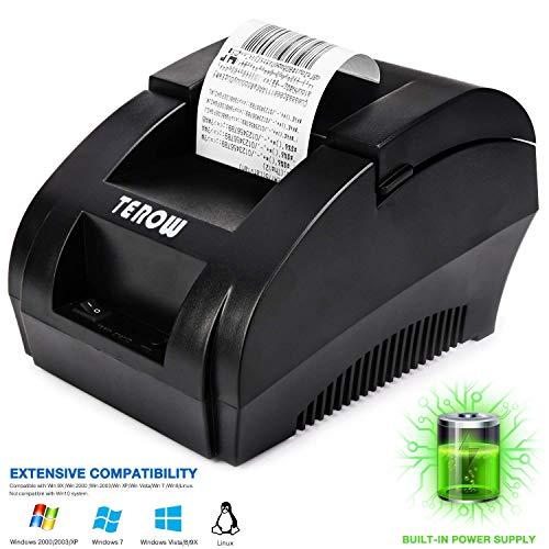 Terow Bondrucker, Etikettendrucker, Barcode-Drucker mit Hochgeschwindigkeitsdruck, Thermodrucker Ticket, 5890k