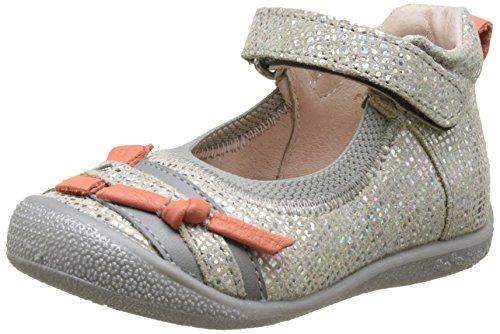 BabybotteShifali - Pantofole a Stivaletto Bambina , argento (Argent (Argent/Corail)), 19 EU