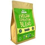 BodyMe Bio Vegan Protein Pulver Mischung | Naked Natürlich | 1kg | UNGESÜßT | Kohlenhydratarm | Glutenfrei | 24g Pflanzliches Proteine | Mit 3 Veganes Proteinpulver | Alle essentiellen Aminosäuren