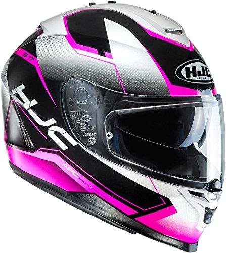 HJC Helm IS 17 LOKTAR MC8 Motorradhelm Integralhelm Damen Dekor mit Sonnenblende und Antifogscheibe (XXS (52/53))