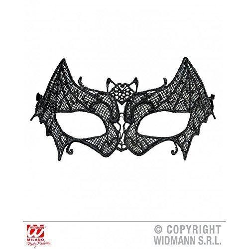 s aus schwarzer Spitze für Fasching / Halloween / Halloweenmaske / Fledermausmaske / Batmask (Augenmaske Halloween)