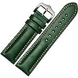 For Samsung Galaxy Gear S2 Classic SM-R732 , Transer® Banda de reloj de cuero genuino correa Para Samsung Galaxy S2 - sm-r732 engranaje (Verde)