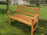 2-Sitzer Gartenbank aus Edelmix Hartholz