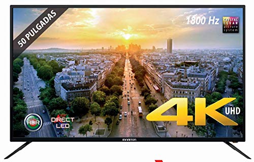 TV LED INFINITON 50' INTV-50 4K UHD 1800HZ - Reproductor y Grabador USB - HDMI - Modo Hotel