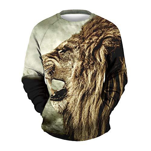 (Binggong Herren Shirt,Räumungsverkauf!Gut Aussehend Herrenshirt Pullover Mode Freizeit Fit Rundhals 3D Print Halloween Langarm Sweatshirt T-Shirt Top)