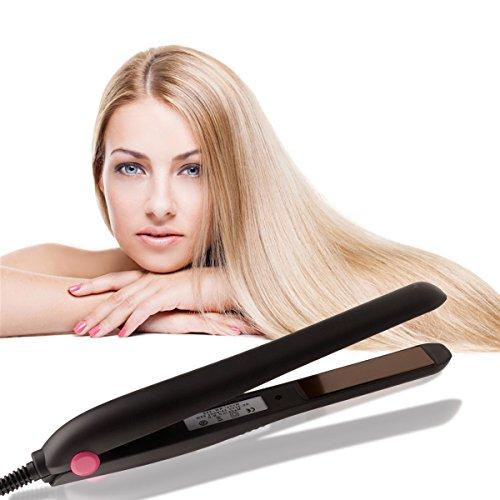 Ckeyin® Plancha de pelo profesional Placa de Cerámica para Pelo Liso