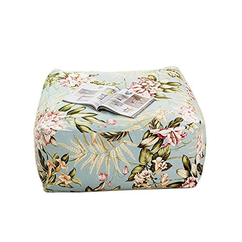 DIXDIAN Tofu Block Sofa Eine Person, Leinwand Square Bean Bag, Vegetation Blumenmuster, können Sie Pedal, liegen, sitzen Sie Sich - Bean Bag Tür