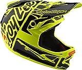 Troy Lee Designs Downhill-MTB-Helm D3 Fiberlite Gelb Gr. L