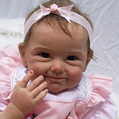 Lebensechte Simulation Reborn Baby-Puppe Tuch Körper 21.6 Zoll 55Cm Schöne Kreative Geschenke Für Kinderspielzeug HOJZ,C - Tuch Baby Puppe