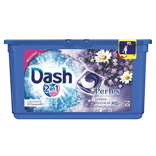 Dash 2en1 - Perles Lessive Capsules Lavande & Camomille - 38 Lavages