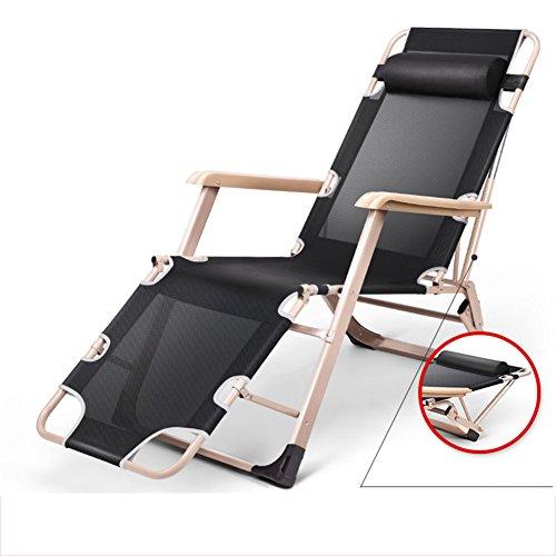 L&J Klappstühle Mit Kopfstütze,Erweitern Sie Liegestühle Stabil Anti-Überschlag,Laden Sie 300kg Vollautomatische Chaise Lounges Für Terrasse Büro Strand - Lounge Für Chaise Terrasse Die