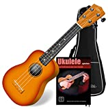 Classic Cantabile Soprano US-100 SB Ukulélé sunburst SET avec cahier d\'école + CD # housse