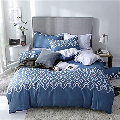 SHJIA Classic Family Bettwäsche King Size Bett Sets Herbst Kissenbezug Duver Cover Set B 200x230cm