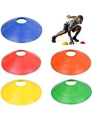 TRIXES Paquete de 20 PIEZAS de Conos Marcadores Multicolores Deportes Entrenamiento Fútbol Livianos Flexibles