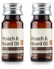 Ustraa Woody Mooch and Beard Oil (Set of 2, 35ml each)