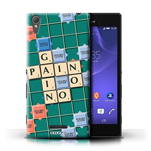 Kobalt® Imprimé Etui / Coque pour Sony Xperia T3 / Douce Vengeance conception / Série Mots de Scrabble Aucun Douleur Gain