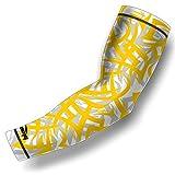 Arm Sleeve COOLOMG (1 Stück) Compression Kinder Anti-Rutsch UV-Schutz Innen- / Outdoor-Sport 4 Farbe 6 Größe Gelb XS