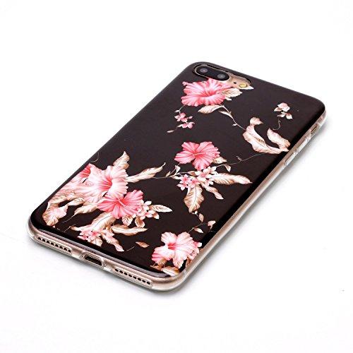 Custodia iPhone 7 / 8 Plus - Cover in Silicone TPU - Surakey iPhone 7 Plus Custodia Slim Ultra Sottile Gomma Morbida Gel Case Frasi 3D Modello di Colorate Antigraffio Antiurto Protezione Posteriore Ca Modello#5