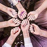 Balloon Up Team Bride Frauen Tattoos für Junggesellenabschied Party JGA Accessoires (Bride, Bridesmaid, Maid of Honor)