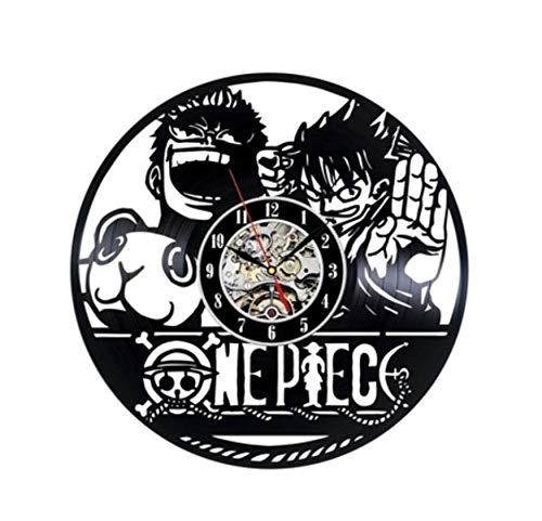 wczzh 12 Zoll(30cm) Modern Quartz Lautlos Wanduhr Uhr Uhren Wall Clock One Piece Vinyl Record Wanduhr - Kinder Wanduhr L07