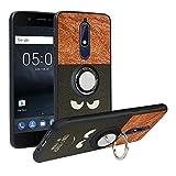 Alapmk Cover Nokia 5.1 2018, [Pattern Design] con 360 Magnetica per Auto, Custodia Protettiva TPU Protettiva Custodia Cover per Nokia 5.1 2018,Do Not Touch