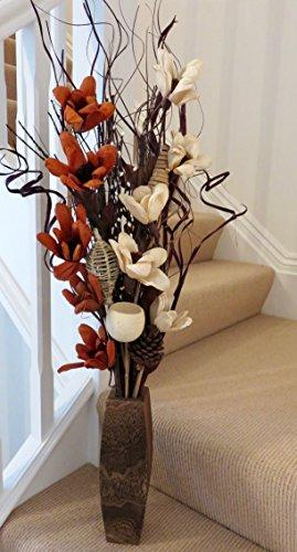crema chocolate fults arreglo floral de orgnico hecho a mano jarrn de flores y de la - Jarrones Decorativos