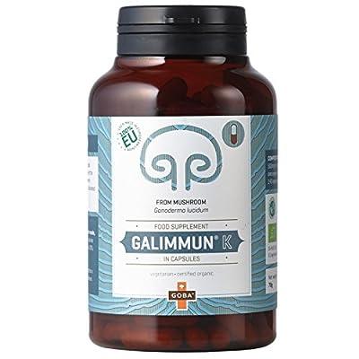 Goba Galimmun® K - Organic Reishi Mushroom Powder (140 Capsules) [Ganoderma lucidum, 100% made in EU] Tausendkraut from Goba MycoMedica
