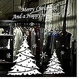 Joyeux Nouvel An Arbre De Noël Papier Flocon De Neige Fenêtres Joyeux Noël Pour Cadeau Décorations Pour Stickers Muraux Livraison Gratuite 100 x 85Cm
