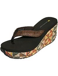Dunlop - Pour femme sandales de plage tongs compensées