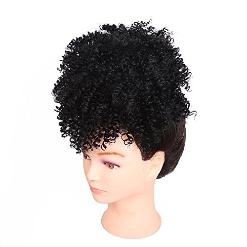 (Wig Curly, Wig Rooted Black Ombre, Women es Heat Resistant Full Curl Wig Short Wavy Layered Natural Hairline Rock Music Festival, Halloween,#1B)