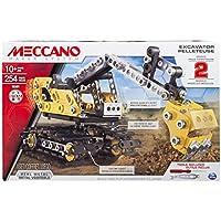 Meccano Construction Digger Juego de construcción de varios modelos de vehículos 254pieza(s) - Juegos de construcción (Juego de construcción de varios modelos de vehículos, 10 año(s), 254 pieza(s), Negro, Metálico, Amarillo, Metal, 360°)