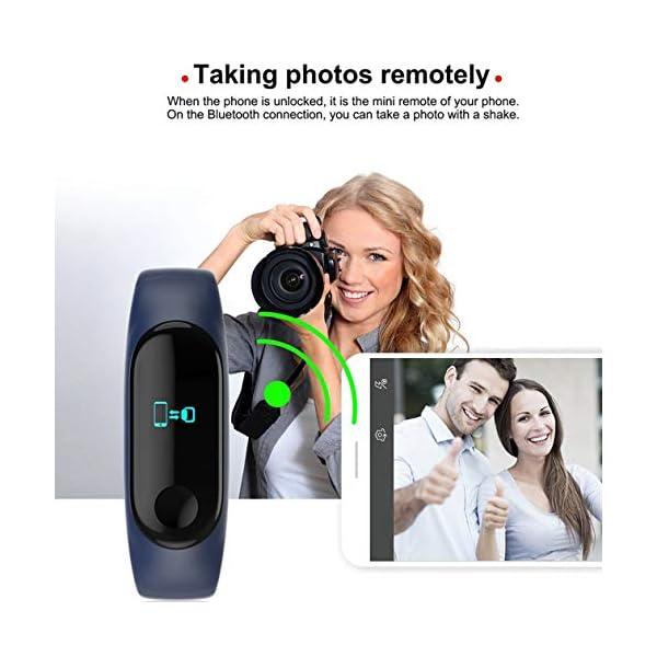 BIYI M3 Unisex Health Tracker Smart Band Reloj Pulsera Pulsera Fitness Tracker Monitor Pulsera (Negro) () 7