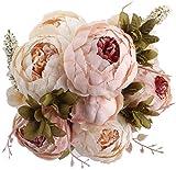 Amkun Kunstblumenstrauß, Pfingstrosen, künstlich, Seide, für Hochzeit/Dekoration, 1Stück hellrosa