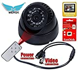 MERSK CCTV Dome 24 IR Night Vision Camera DVR with SANDISK Memory Card Slot Recording (USB)