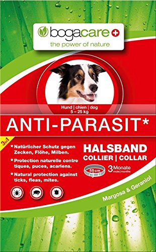 Bogacare UBO0426 Anti-Parasit Halsband Hund, 5-25 kg, 55 cm