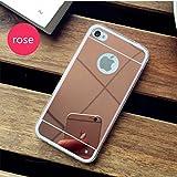 PANXYUE Coque iPhone 4/4S Miroir silicone TPU Coloris Rose Etui Housse Bumper