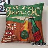 BSHOP Cuscini Cuscino Auto Fornitore Vendita Diretta Divano Cuscino Cuscino Cuscino Personalizzato all'Ingrosso inglesewind Testa Macchina, Ciao in Pelle Due Bottiglie di Birra, 45 * 45 cm