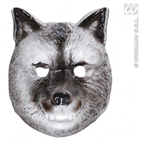 WIDMANN Kunststoff-Maske für Kinder - Wolf-Masken, Augenmasken und Verkleidungen für Maskenade, Kostüm-Zubehör (Kinder Kostüm Wolf)