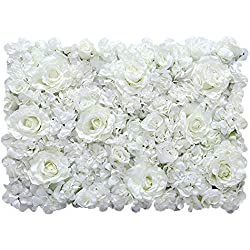 LVZAIXI Flores Fondo Artificial Flor De Simulacion Fotografía Telón De Fondo Foto Personal Decoración del Hogar Calle Ramo Boda Colgando Pared Floral Rosa (Color : A, Size : 40x60cm)