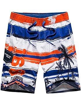 WDDGPZ Pantalones Cortos De Playa/Los Hombres De Verano Playa De Algodón Elástico Y Transpirable Board Shorts...